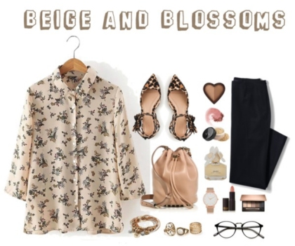 Beige And Blossoms
