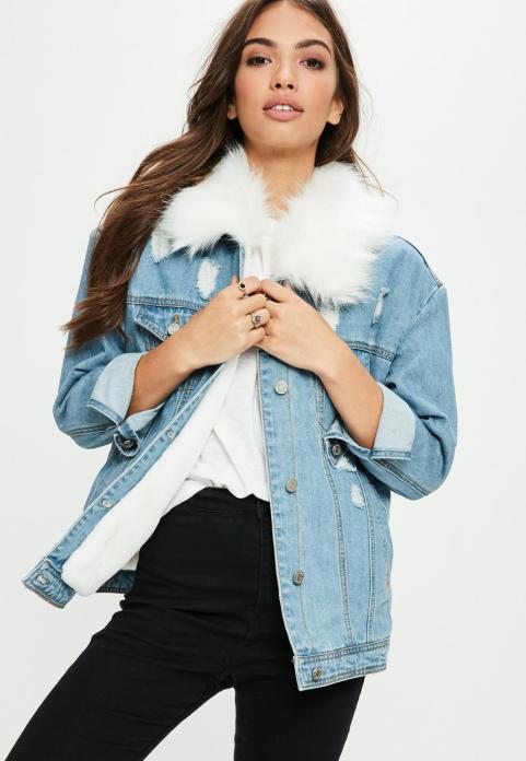white-faux-fur-collar-denim-jacket
